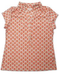 Charter Club Iconic Abstract-print Polo Shirt, Created For Macy's - Pink