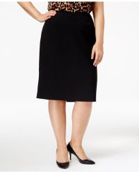 Anne Klein - Plus Size Pencil Skirt - Lyst