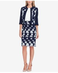 Tahari - Embroidered Open-front Jacket - Lyst