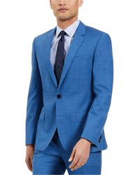 HUGO Slim-fit Stretch Wool Suit Separate Jackets - Blue