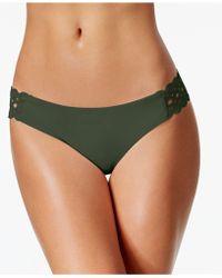 Becca - Siren Eyelet Hipster Bikini Bottom - Lyst