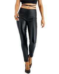 Bar Iii Pull-on Coated Legging, Created For Macy's - Black