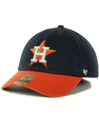 b77fef17c 47 Brand Houston Oilers Franchise Cap in Blue for Men - Lyst