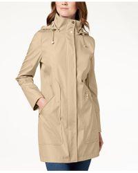 Ivanka Trump - Hooded Solid Raincoat - Lyst
