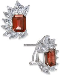 Macy's | Rhodolite Garnet (6 Ct. T.w.) & White Topaz (4-1/2 Ct. T.w.) Drop Earrings In Sterling Silver | Lyst