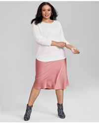 Charter Club Plus Size Cashmere Shirttail Sweater, Created For Macy's - Multicolour