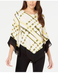 Alfani - Printed V-hem Top, Created For Macy's - Lyst