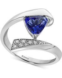 Effy Collection - Tanzanite (1 Ct. T.w.) And Diamond Accent Bypass Ring In 14k White Gold - Lyst