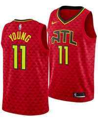 premium selection c503a 61667 Nike Synthetic Dennis Schröder Atlanta Hawks Icon Swingman ...