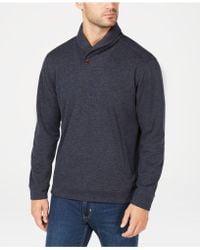 Tommy Bahama Sandbar Shawl-collar Pullover Knit - Blue