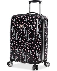 """Betsey Johnson - Paris Love 20"""" Hardside Carry-on Spinner Suitcase - Lyst"""