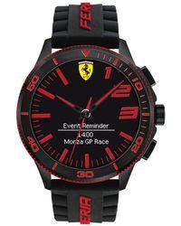 Ferrari - Men's Analog-digital Scuderia Xx Ultraveloce Black Silicone Strap Smart Watch 48mm 0830375 - Lyst