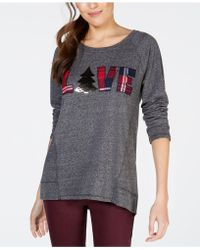 Style & Co. - Petite Love Graphic-print Sweatshirt, Created For Macy's - Lyst
