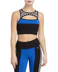 2xist Colour Block Sport Bra - Black
