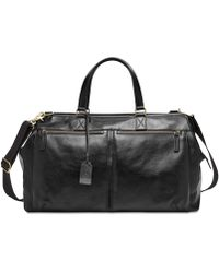 Fossil - Leather Duffel Bag - Lyst