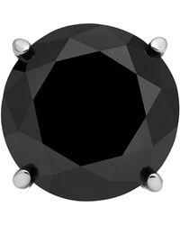 Macy's Stainless Steel Earring, Black Diamond Single Stud Earring (1 Ct. T.w.)