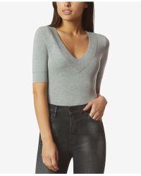 Avec Les Filles - T-shirt Bodysuit - Lyst