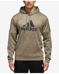 adidas - Team Issue Fleece Logo Hoodie - Lyst