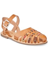Lucca Lane - Hope Woven Flat Sandals - Lyst