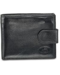 Mancini Equestrian2 Collection Rfid Secure Wallet With Coin Pocket And Card Sleeves - Black