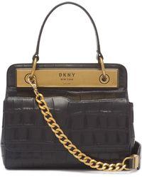 DKNY Cooper Top Handle Flap Crossbody - Black