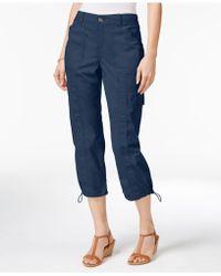 Style & Co. - Cargo Capri Trousers - Lyst