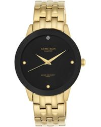 Armitron - Men's Gold-tone Diamond Accent Bracelet Watch 42mm 20-4952bkgp - Lyst