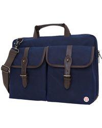 """Token Waxed Knickerbocker 15"""" Laptop Bag - Blue"""