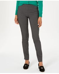 Charter Club Cambridge Skinny Pull-on Tummy-control Pants, Created For Macy's - Black