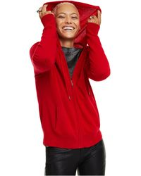 Charter Club Cashmere Zip-front Hoodie, Regular & Petite Sizes, Created For Macy's - Red
