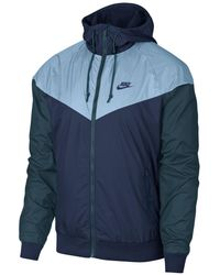 8f0d6431791a Lyst - Nike Windrunner Colorblocked Jacket in Blue for Men