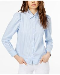JILL Jill Stuart - Puff-shoulder Blouse, Created For Macy's - Lyst