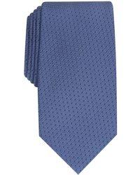 Perry Ellis Starlite Neat Tie - Blue