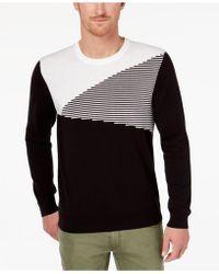 INC International Concepts - Men's Colorblocked Ottoman Stripe Sweater - Lyst