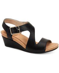 Giani Bernini - Belinaa Memory Foam Wedge Sandals, Created For Macy's - Lyst
