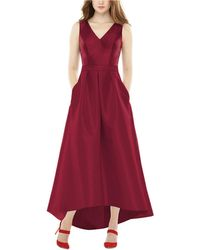 Alfred Sung High-low Satin Gown - Red