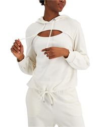 INC International Concepts Cotton Front-cutout Hoodie, Created For Macy's - Multicolour
