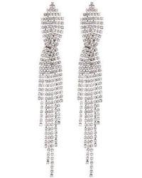 Nicole Miller Criss-cross Chandelier Earring - Metallic
