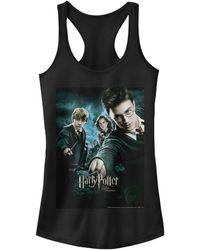 Fifth Sun Harry Potter Order Of The Phoenix Group Poster Juniors Racerback Tank - Black