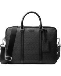 Michael Kors - Men's Faux-leather Logo-print Briefcase - Lyst