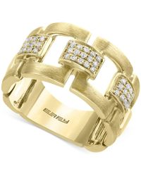 Effy Collection - Diamond Link Statement Ring (1/5 Ct. T.w.) In 14k Gold - Lyst