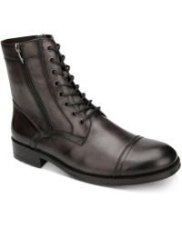 Kenneth Cole - Hugh Leather Boots - Lyst