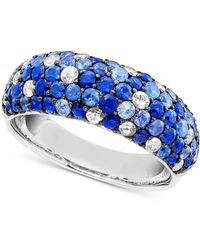 Effy Collection - Shades Of Sapphire Band Ring (2-7/8 Ct. T.w.) In Sterling Silver - Lyst