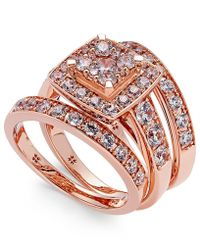 Macy's - Diamond Engagement Bridal Set (2 Ct. T.w.) In 14k White Gold - Lyst