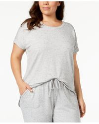 Alfani - Plus Size Solid Pajama Top, Created For Macy's - Lyst