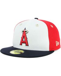 newest c89ef 32f74 KTZ - Los Angeles Angels All Star Game Patch 59fifty Fitted Cap - Lyst