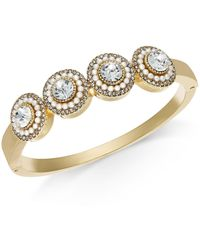 Charter Club - Crystal & Imitation Pearl Cluster Bangle Bracelet, Created For Macy's - Lyst