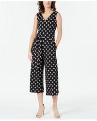 Velvet In Klein Jumpsuit Surplice Black Lyst Calvin b7vgYy6f