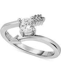 Macy's - Diamond Arrow Engagement Ring (1/2 Ct. T.w.) In 14k White Gold - Lyst