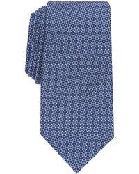 Perry Ellis Brydon Slim Micro-neat Tie - Blue